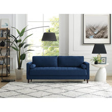"Load image into Gallery viewer, Garren 75.6"" Square Arm Sofa BLUE #6152"