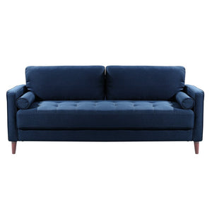 "Garren 75.6"" Square Arm Sofa BLUE #6152"