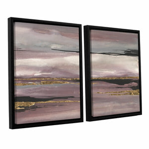Gilded Storm III 2 Piece Framed Painting Print on Canvas Set  #4512