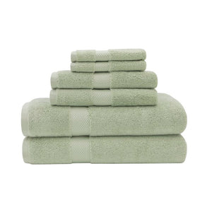 Gillsville 6 Piece Egyptian-Quality Cotton Towel Set in Sage  #4176