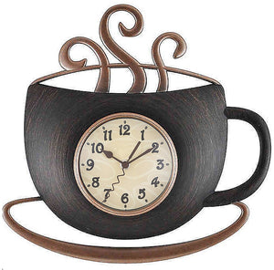 Hamo Morning Coffee Cup Wall Clock EB2994