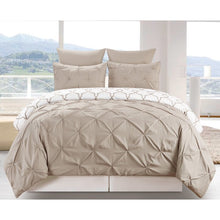 Load image into Gallery viewer, King Taupe Han 3 Piece Reversible Duvet Cover Set (taupe)  #5099