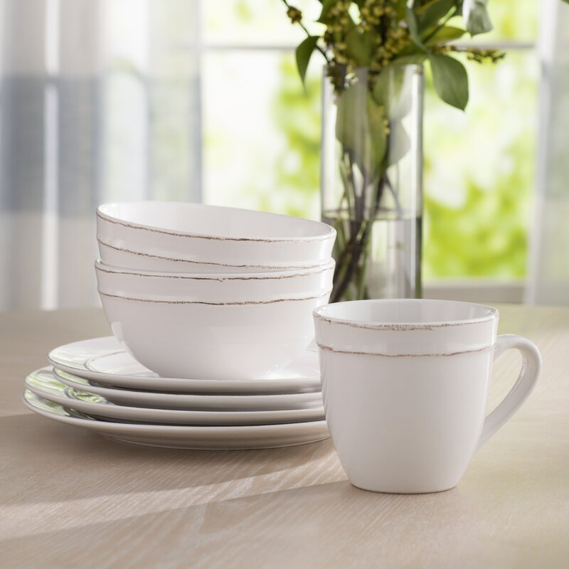 Harwood 16 Piece Dinnerware Set, Service for 4  #5413
