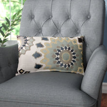 Load image into Gallery viewer, Beige/Charcoal/Slate/Brown Hermanson Floral Lumbar Pillow  #5081