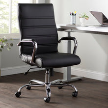 Load image into Gallery viewer, High Back Swivel with Wheels Ergonomic Executive Chair - black color  #5013