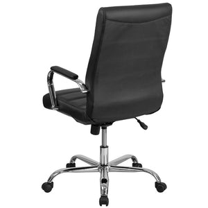 High Back Swivel with Wheels Ergonomic Executive Chair - black color  #5013
