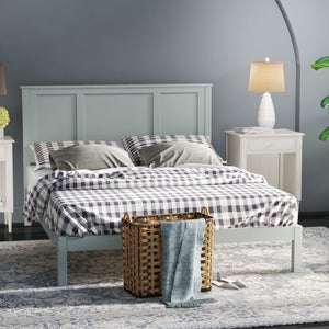 Full Sage Gray Homewood Country Style Platform Bed #5027