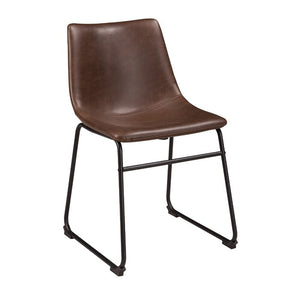 Irving Upholstered Side Chair in Brown   #4334
