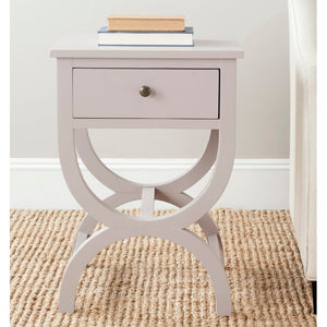Joanna Trestle End Table with Storage - gray  #5065