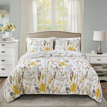 Load image into Gallery viewer, FULL/QUEEN - Juilliard Reversible Quilt Set in Yellow    #tar463