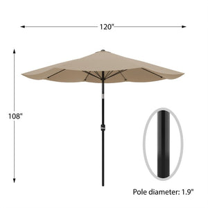 Kelton 10' Market Umbrella  #5203