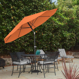 Kelton 10' Market Umbrella in Burnt Orange #4034