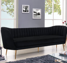 "Load image into Gallery viewer, Koger Velvet 88"" Flared Arm Sofa"