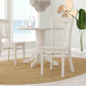 Langwater Solid Wood Dining Chair (Set of 2) in Linen White  #4121