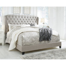 Load image into Gallery viewer, Queen Light Gray Larios Upholstered Standard Bed EB2731