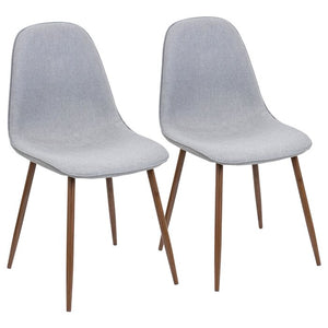 Laurens Mid-Century Modern Upholstered GRAY Side Chair (Set of 2) #5156