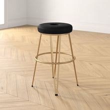 Load image into Gallery viewer, Onyx Liza Swivel Counter Stool  (gold base)  #5154