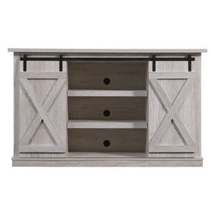 "Lorraine TV Stand for TVs up to 60"" in Sargent Oak/Whitewash Grey #4072"