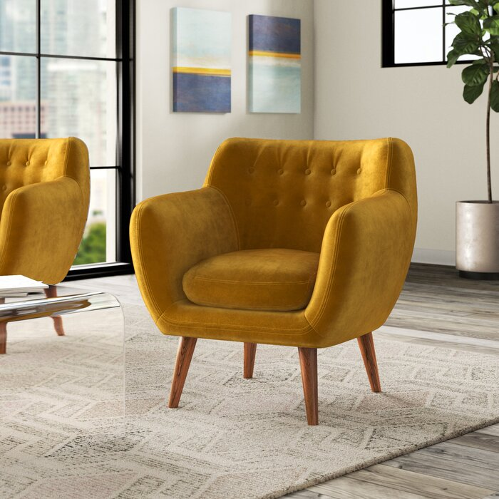 Martinique Armchair in Mustard  #4249