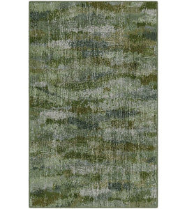 "Medfield Greenery, Vintage Abstract Green Area Rug  (30""x46"") #5248"