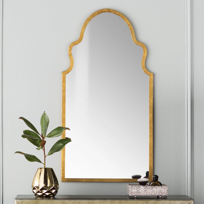 Gold Menachem Accent Mirror  #5503