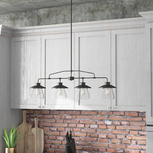 Load image into Gallery viewer, Oil Rubbed Bronze Michael 4 - Light Kitchen Island Linear Pendant  #5126