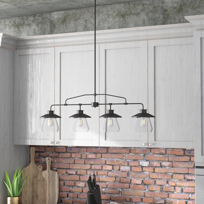 Oil Rubbed Bronze Michael 4 - Light Kitchen Island Linear Pendant  #5126