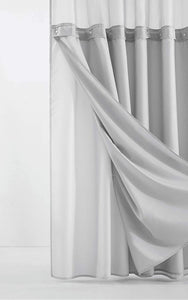 Nala 2 Piece Solid Color Shower Curtain Set EB2996