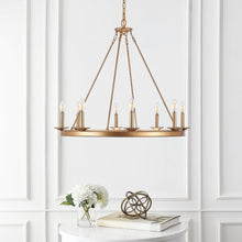 Load image into Gallery viewer, Natal 8 - Light Candle Style Wagon Wheel Chandelier 2325
