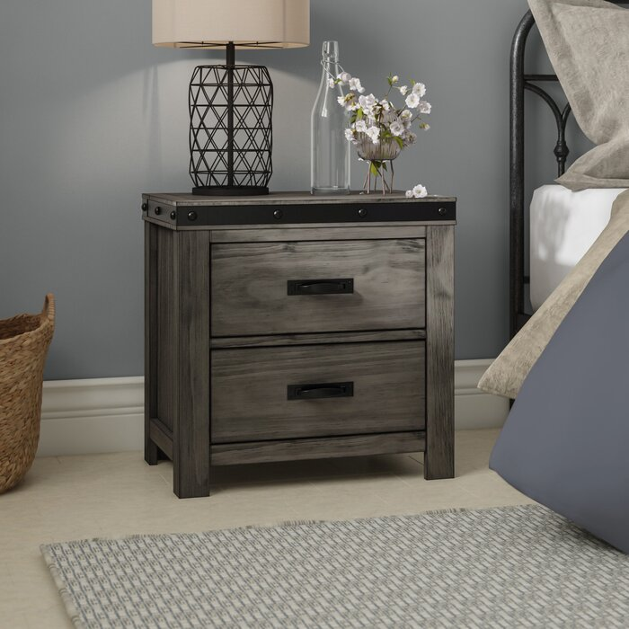 Gray Nowlin 2 Drawer Nightstand  #5410