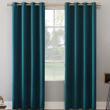 Load image into Gallery viewer, Oslo Home Theater Grade Solid Blackout Thermal Grommet Single Curtain Panel mp3627