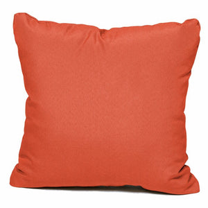 "Outdoor 16"" Throw Pillow Insert (Set of 2) in Tangerine  #4272"