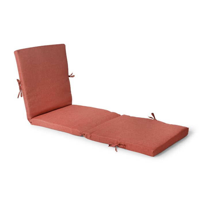 Outdoor Chaise Lounge Cushion in Orange  #4080