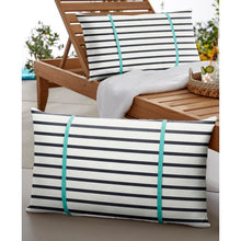 Load image into Gallery viewer, Harper Sunbrella Indoor / Outdoor Striped Lumbar Pillow (Set of 2)  #5030