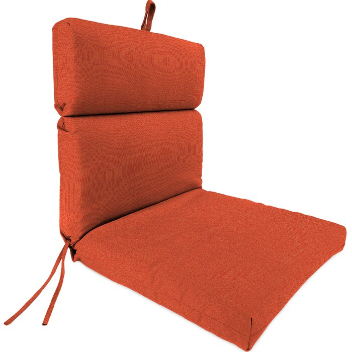 Set of 3  Indoor/Outdoor Sunbrella Dining Chair Cushion in Sangria  #4125