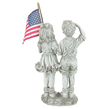 Load image into Gallery viewer, Patriotic Flag Children Statue  #5029