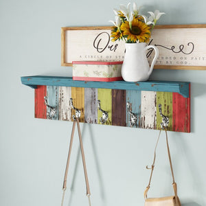 Peterkin Panel Wall Shelf with Hooks  #4217