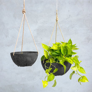 Pollyanna Self-Watering Resin Hanging Planter Set of 2 #3000