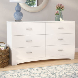 Poulson 6 Drawer Double Dresser in Vintage White #4053