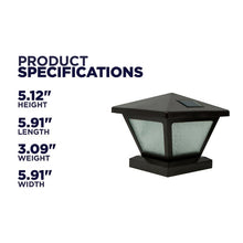 Load image into Gallery viewer, Randazzo Solar 1-Light LED Lantern Head (Set of 4) #6040