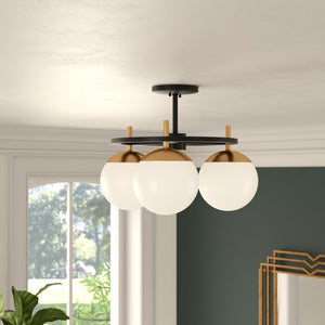 "Rosanne 3 - Light 18"" Chandelier Style Globe Semi Flush Mount  #4162"