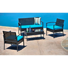 Load image into Gallery viewer, Roxana 4 Piece Rattan Sofa Seating Group with Cushions #6273