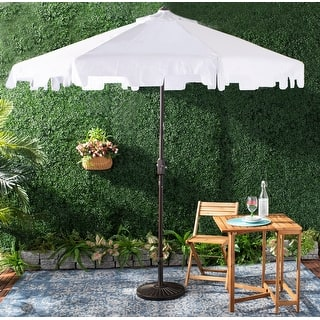 Safavieh Outdoor Zimmerman 9 Ft Market Umbrella - White 3013