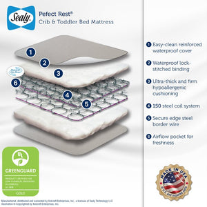 Sealy Baby Perfect Rest Waterproof Standard Crib Mattress #6203