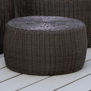 Brown Shela Wicker Outdoor Ottoman  #5214