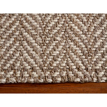 Load image into Gallery viewer, 9' x 12' Simms Chevron Handmade Flatweave Jute/Sisal Tan Area Rug-ELG/Rugs1358