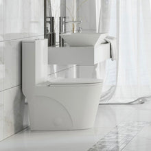 Load image into Gallery viewer, Dual-Flush Elongated One-Piece Toilet (Seat Included) (white)  #mp75