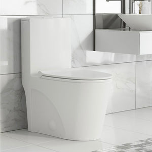Dual-Flush Elongated One-Piece Toilet (Seat Included) (white)  #mp75
