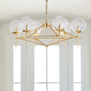 Jaidan 6 - Light Unique / Statement Modern Linear Chandelier  #4144