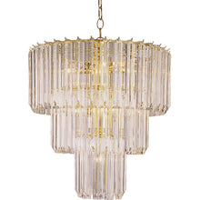 Load image into Gallery viewer, Polished brass Grisella Unique / Statement Tiered Chandelier  #5330